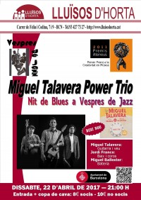 Vespres de Jazz - Miguel Talavera Power Trio