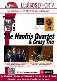 Vespres de Jazz - The Hanfris Quartet & Crazy Trio