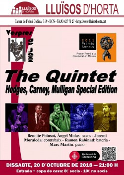 Vespres de Jazz - The Quintet: Hodges, Carney, Mulligan Special Edition