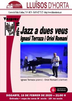 Vespres de Jazz - Jazz a dues veus
