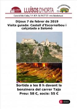 Excursió al Castell d'Escornalbou i Calçotada a Salomó