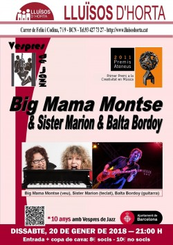 Vespres de Jazz - Big Mama Montse & Sister Marion & Balta Bordoy