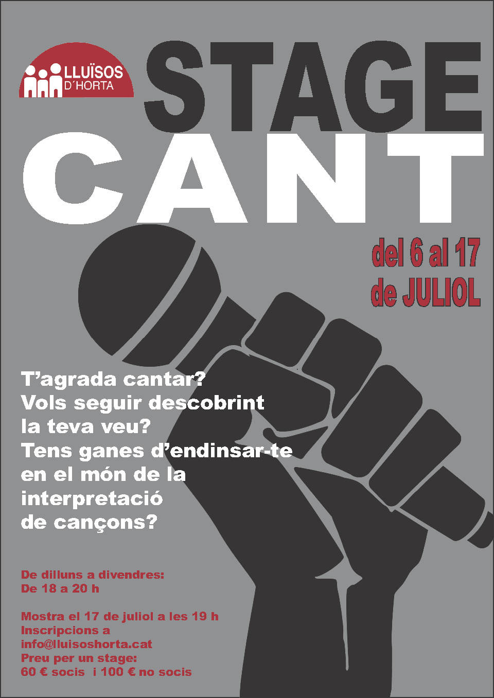 Stage de Cant